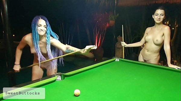 Two naked shameless sluts play billiards Thumb