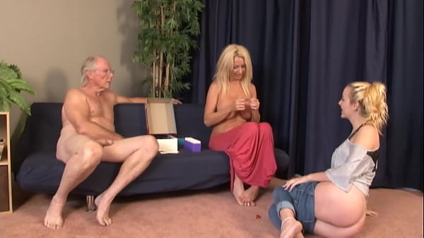 Daughter play a new game with Mommy and Daddy