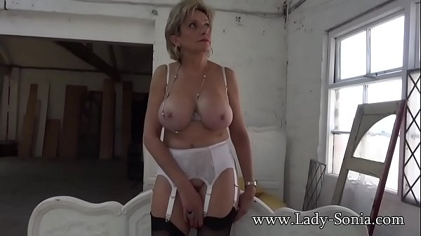Lady Sonia strips nude and touches herself