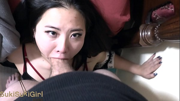 asian girl INTENSE pov facefucking blowjob with...