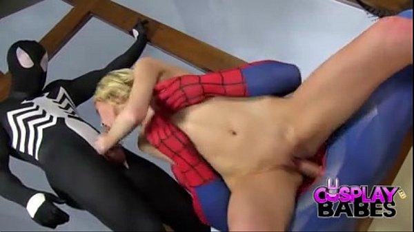 COSPLAY BABES Spiderman teams up with Venom to eat pussy - BigCams.net