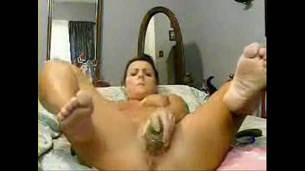 My mom self taped masturbating with huge cucumber. Stolen video Thumb
