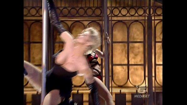 Italian tv sexy mega oops Ela Weber lap dance