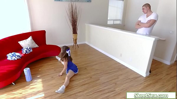 Petite teen babe fucked by a big guy