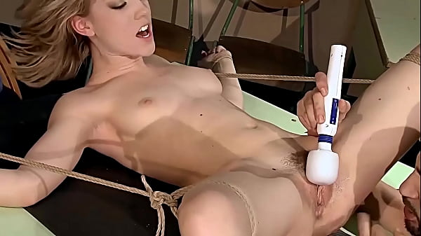 Enslaved schoolgirl Lily Labeau. Part 2. The teacher focusing on her hairy cunt