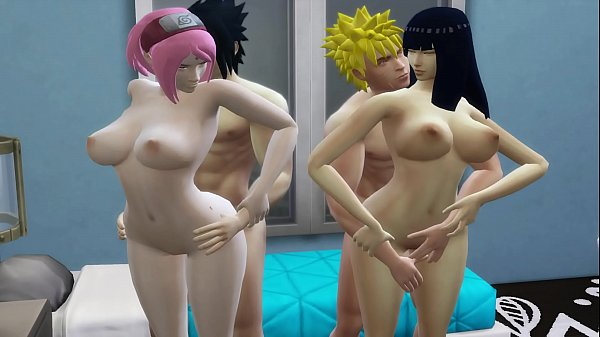 Hinata and Sakura Anal Fucked Together By Their Husbands Naruto Hentai Family Sex