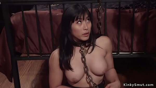 Redhead lesbian whips busty Asian