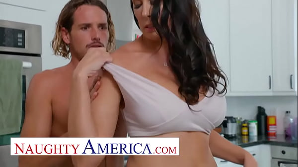 Naughty America - Hot Mom Reagan Foxx fucks and sucks on young cock