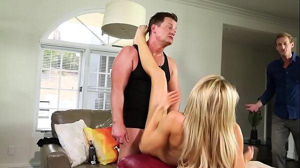 Wife joins to her husband and his masseuse - Blair Williams, Alix Lynx