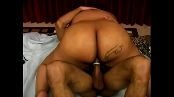 Curly black roly-poly woman with massive garage and big boobs Vanilla enjoys when well-hung muscular dude streches her bushy twat with his hard pole