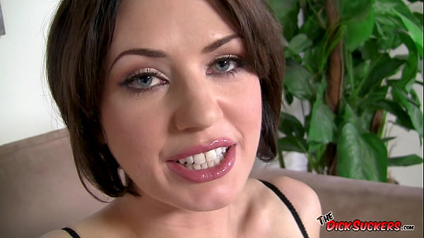Deep throat Queen Sarah Shevon swallows all of Mr. POV's nine inches before finishing it on her lovely face!