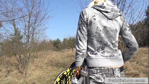 Sexy blonde Czech teen banging in forest POV