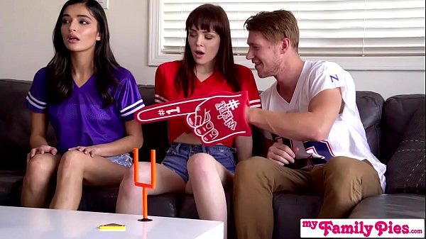 """I'm Trying To Watch The Game Fuck Off!"" Super Bowl Sunday Threesome S12:E1"