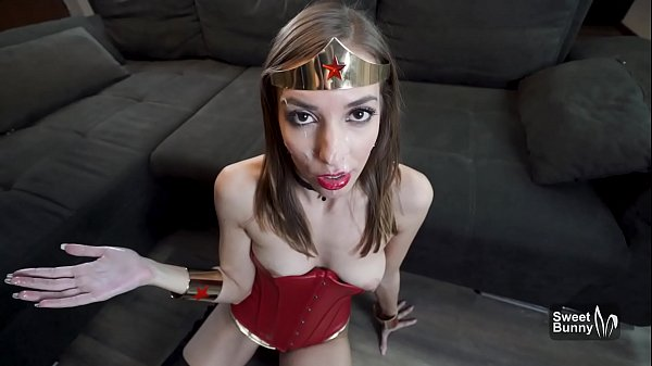 Amazing POV Sex With Slutty Wonder Woman - Huge Facial
