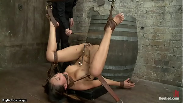 Rope bound Asian hard whipped Thumb