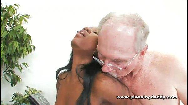 Sexy Black Student Fucks Horny Old Dean