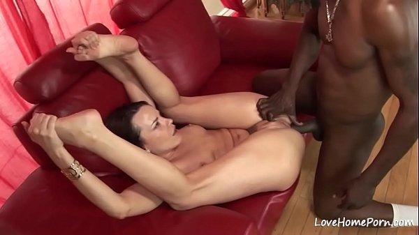 Interracial slamming for a kinky skinny slut