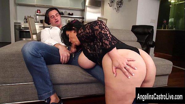 Cuban Italian Pornstar Threesome with Angelina Castro