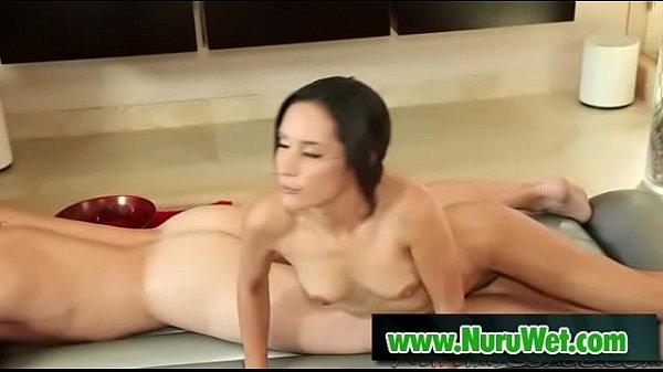 Brunette masseuse gives handjob nuru massage - Aaron Wilcoxxx, Tia Cyrus