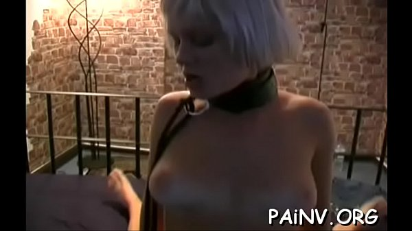 Bondage action with a fellow who gets tortured by domina Thumb