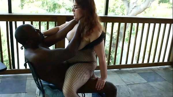 White Slut Vicki Verona Sucks & Fucks Big Black Cock Outside