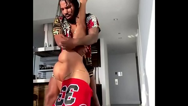 Flexible ebony gets her pussy destroyed