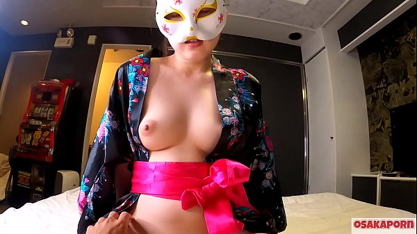 Young cosplay girl loves sex of orgasm with squirt in cowgirl and blowjob. Amateur Asian with hairy pussy and beautiful tits in Japanese traditional costume shows masturbation with fuck toys. Sakura 3 OSAKAPORN