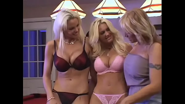 Two curious busty blonde wanton girls Rhylee Richards and  Rhyse Richards are not against to imrove their linguistic skills under the capable guidance of experinced  rug muncher Sindee Coxx in her training academy