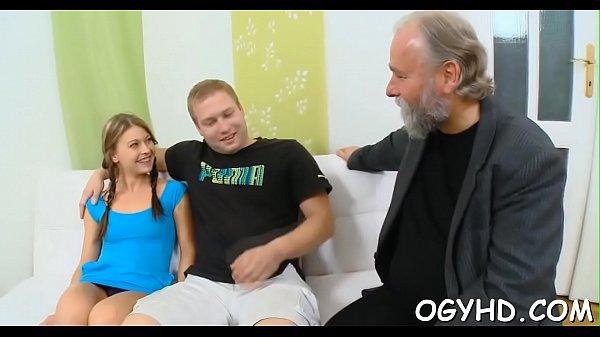 Old boy seduces j. babe