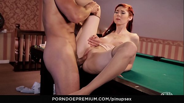 VIP SEX VAULT - Hot sex on the pool table with sexy Czech pinup babe Kattie Gold
