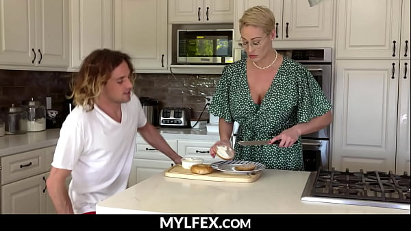 Supportive Stepmom Cooking Son's Breakfast (Ryan Keely) - MYLFEX.com