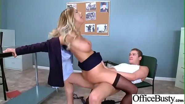(August Ames) Busty Office Slut Girl In Hardcore Sex Scene clip-03