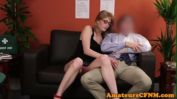 Young CFNM fetish babe teases older guy