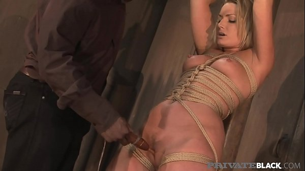 PrivateBlack - Tied Milf Flower Tucci Dungeon Dicked By Big Black Cock