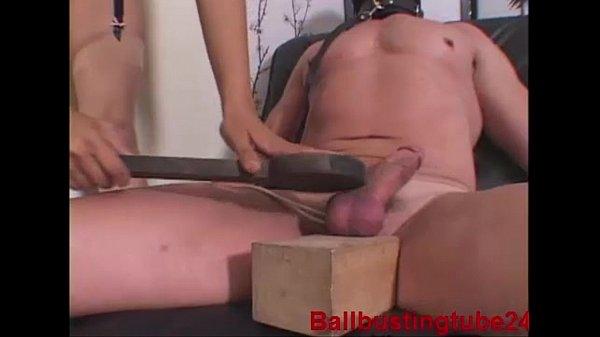 XtremeCBT - Ballbusting Chastity slave - Foot Worship