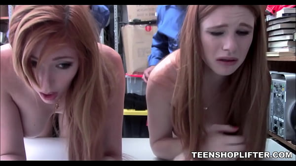 Hot Mom And Teen Daughter Caught Shoplifting And Fucked By Two Guards