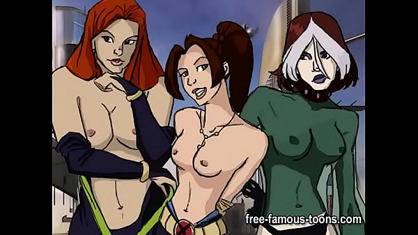 X-Men super heroes parody orgy