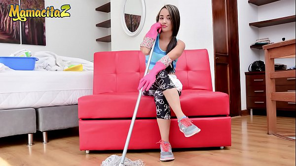 MAMACITAZ - Lucky Charles Shovels Big Cock In His Latina Maid Valeria Matasanos