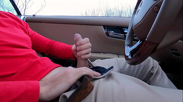 PUBLIC JERKING OFF IN CAR! Teen caught me and help me out. 4K ULTRA HD.