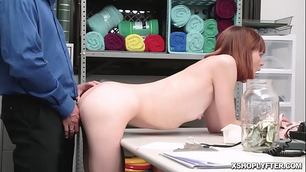 Redhead Alex Nova getting banged hard from behind doggystyle over the desk Thumb