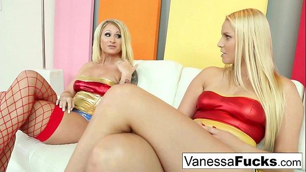 Vanessa & Daisy are both lesbian superheroes for Halloween