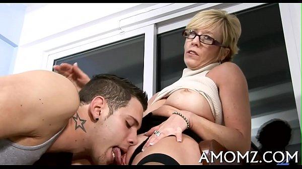 Bitchy mommy rides like a pro