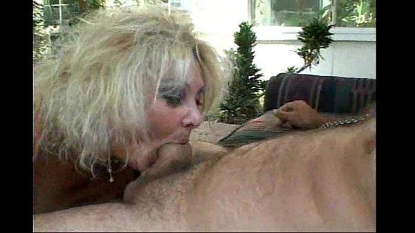 Mature deepthroating and slurping on hard cock