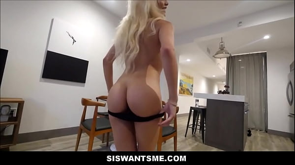 Hot Blonde Petite Step Sister Elizabeth Jolie Seduces Her Step Brother With Her Hot Body POV