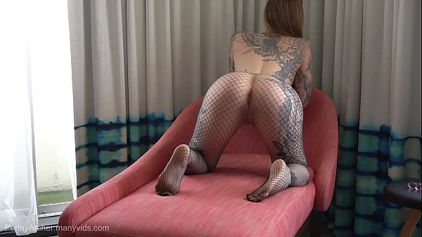 Teasing you in fishnets then tearing them open ...