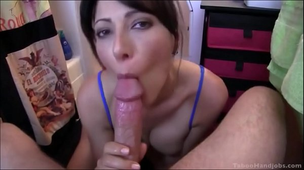 MOM CATCHES SON WANKING AND HELPS HIM WITH A DEEPTHROAT BLOWJOB Thumb