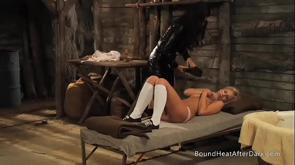 Slaves Homecoming: Bound Slave Undressed And Groped By Mistress