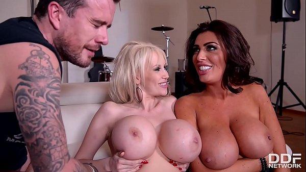 Busty babes Ava Koxxx & Sandra Star fucked real...