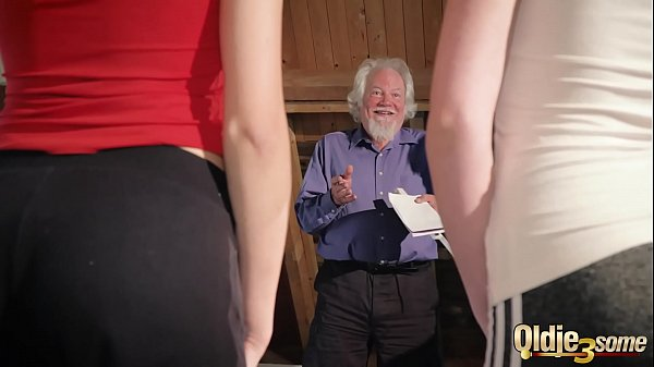 Kiara and Mia both fuck an old man and share hi...