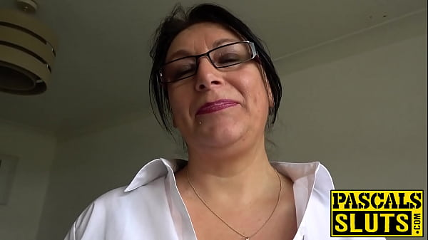 Busty plump mature lady dominated and pounded s...